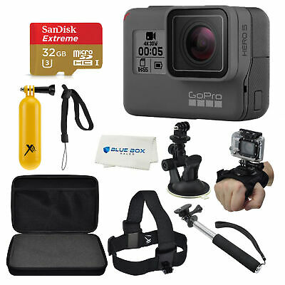 GoPro HERO7 with an Essential Accessory Kit Bundle, and Sd (Black or Silver)