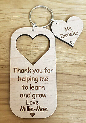 Personalised Keyring Gift For Teacher Gifts Nursery School End Of Year Christmas