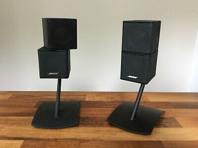 Genuine Bose Black Uts-20 Table Jewel Cube Lifestyle Speaker Stands