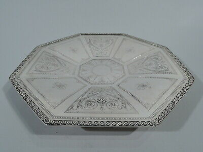 Tiffany Tray - 18757 - Antique Footed Serving Plate - American Sterling Silver