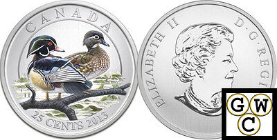 2013 'Wood Duck' Colorized 25-Cent Coin (Oversized) (13242) (OOAK)