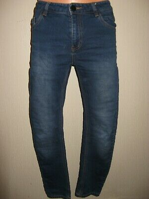 Worn Once Boys Next Skinny Stretch Blue Stonewash Straight Leg Jeans Age 12-13