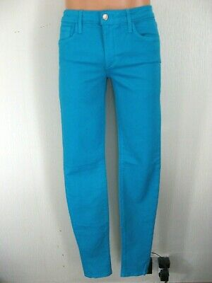 New Boys Joes Aqua Turquoise Super Skinny Stretch Chino Jeans 28R Age 13-14-15