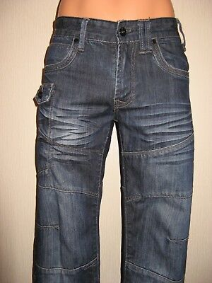 Worn Once Boys Blue/Black Diesel Distress Classic Straight Jeans 29 Waist Age 14