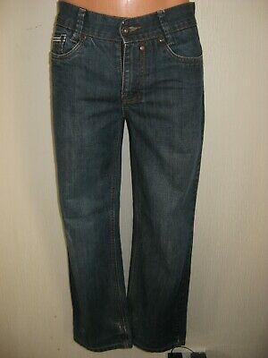 Worn Once Boys Blue Ted Baker Classic Straight Leg Jeans Age 13-14 29 Waist 30L