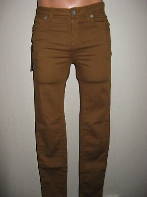 New Tags Boys Mens Brown Jack Wills Super Skinny Broughton Chino Jeans 28 Waist