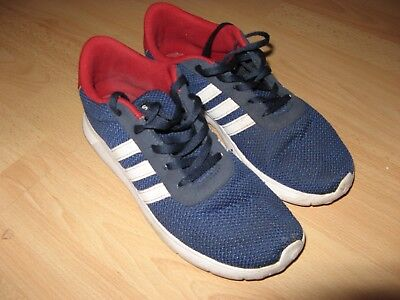 Hardly Worn Older Boys Blue Adidas Neo Lightweight Trainers Sneakers Size 5.5 Uk