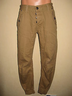 Worn Once Boys Taupe Brown Rivington Jogger Cuffed Skinny Leg Jeans 28 Age 13-15