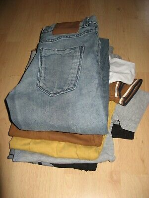 Worn Once Boys Next White Polo T-Shirt & Next Super Skinny Leg Blue Jeans Age 12