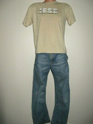 Boys Pale Blue Ben Sherman Long Sleeve Top & Next Blue Classic Fit Jeans Age 14