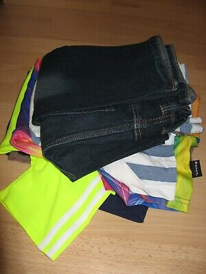Worn Boys Stripe Short Sleeve Polo T-Shirt And Next Classic Blue Jeans Age 13-14