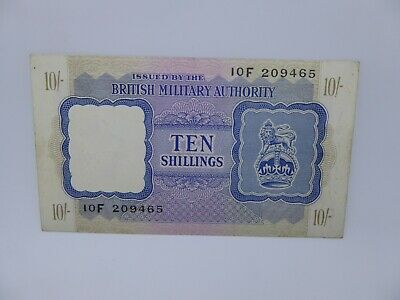WW2 British Military Authority 10 shilling bank note.