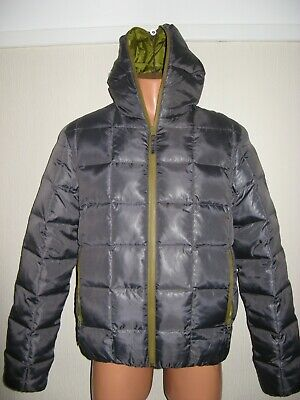 Hardly Worn Boys Zara Padded Down Filled Hooded Winter Puffa Jacket Age 14-16