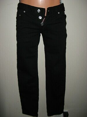 Worn Once Boys Black Dsquared2 Skinny Stretch Button Fly Skinny Leg Jeans Age 14