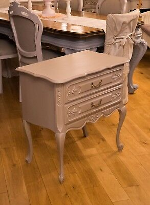 Vintage french wooden painted Louis XV style chest of drawers