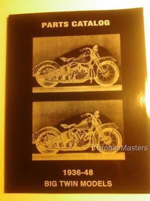 Spare Parts Log, Manual, Book for Harley Big Twin Knucklehead, Flathead '36-'48