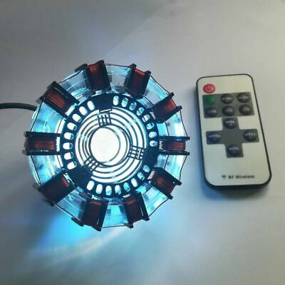DIY product1:1 Iron Man MK1/MK2 Arc Reactor heart model chest led light With Box