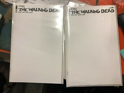 2 Copies Walking Dead 192 B Blank variant Death Rick Grimes issue 1st printing