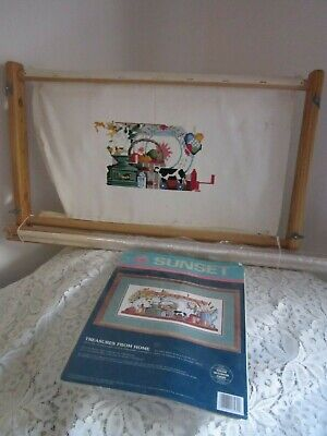 Long & Cross Stitch Tapestry & Embroidery Wooden Working Frame 51 or 72 X 30 CM