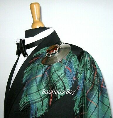 FLY PLAID TARTAN DAVIDSON ANCIENT CLAN 16oz WORSTED WOOL KILT MADE IN SCOTLAND