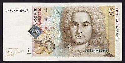 Germany Federal Republic 50 Deutsche Mark Banknote 1996 P-45