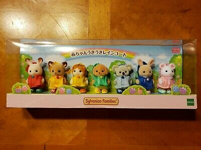 Calico Critters Baby Raincoat Doll Set Fan Club Limited Sylvanian Families