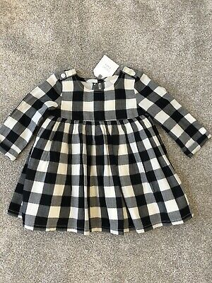 Next Lined Baby Girls Check Dress 3-6 Months - Brand New With Tags