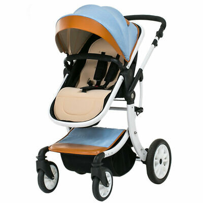 Baby Stroller Foldable Jogger Carriage Infant Travel System Pushchair Blue