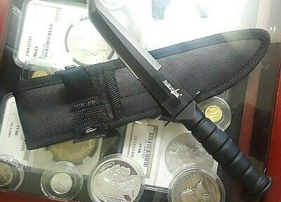 """7.5"""" MILITARY TACTICAL TANTO COMBAT KNIFE w/ SHEATH Survival Hunting"""