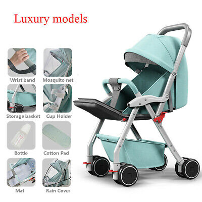 Baby Stroller Foldable Lightweight Kid Travel Pushchair High Landscape Pram