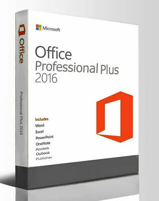 Microsoft Office Professional Plus 2016 Pro Licence LifeTime Instant Delivery