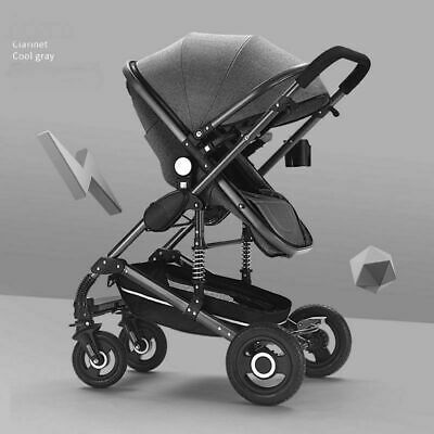 2 In 1 Baby Stroller Foldable Pram Car Pushchair Infant Carriage Travel