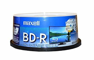 maxell�Eapan-Blank BD-R Blu-ray Discs 25GB 130min White label 50 From japan