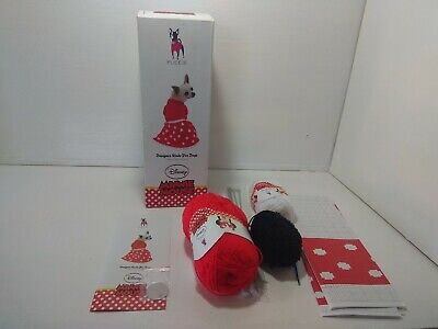 Puccie Knitting Kit for Designer Dog Coat. Minnie mouse design Disney cute craft