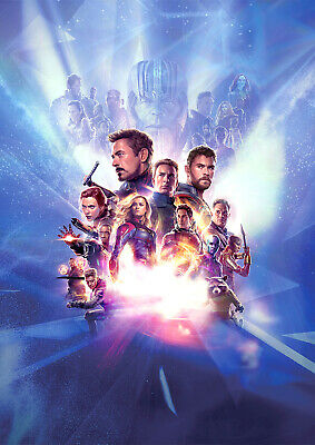 Avengers Endgame Poster Movie NEW 2019 Marvel Downey, FREE P+P, CHOOSE YOUR SIZE