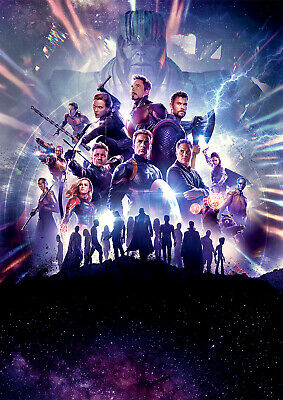 Avengers Endgame Poster, Movie NEW 2019 Marvel Downey FREE P+P, CHOOSE YOUR SIZE