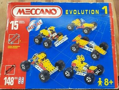 Meccano Evolution 1 Construction Set Complete With Instruction Book - 1996