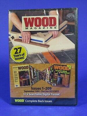 Wood Magazine back issues 1-209, 27 years, DVD-ROM, AUTHENTIC - 1,000+ projects