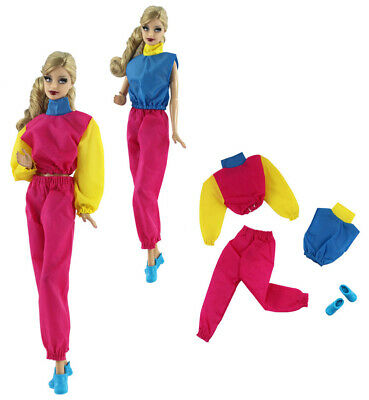 4in1 Set Fashion Outfit/clothes Top+vest+pants+shoes for 11.5 in. Doll c37