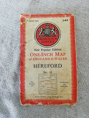 Old Ordnance Survey One -Inch Map of England and Wales Hereford sheet 142