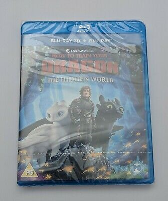 How To Train Your Dragon - The Hidden World 2019 3D Blu Ray -  Brand New Sealed