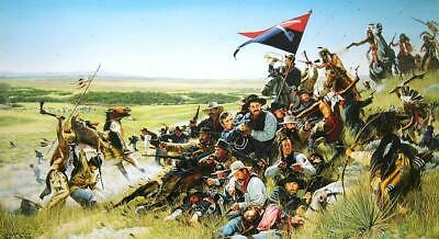THE LAST COMMAND CUSTER & 7TH CAVALRY AT LITTLE BIG HORN art print