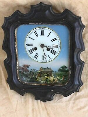 Stunning Antique French Oeil De Boeuf Wall Clock 19th Century Bakers Clock