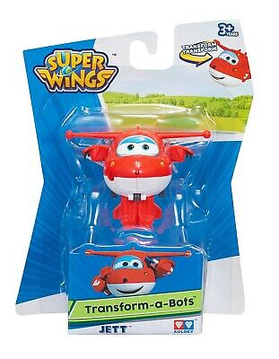 Super Wings Mini Transform Figur 5,5 cm - Jett - Flugzeug Transform a Bot