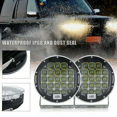 Pair 7inch CREE SPOT LED Driving Lights Round Off Road 4x4 Spotlights Lamp