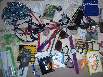 Estate Sale Treasures / Jewelry, Necklaces, Clip Earrings, Crafts, Glasses #1044