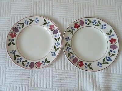 2 x Adams OLD COLONIAL Salad / Dessert / Breakfast Plates 9""