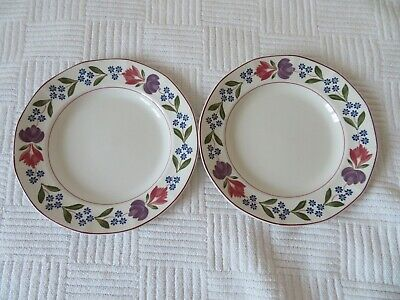 2 x Adams OLD COLONIAL Dinner Plates 10""