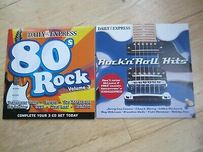 2 CDs - 80's Rock Volume 3 and Rock'n'Roll Hits - Daily Express Promo