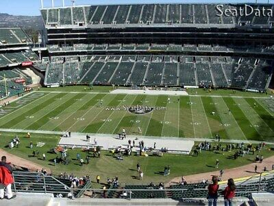 2-40YdLn FRONT ROW AILSE LOS ANGELES CHARGERS @ OAKLAND RAIDERS TICKETS 11/7 TNF